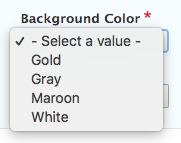 callout background color dropdown