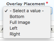 callout overlay placement dropdown